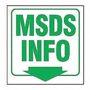 PROJ SIGN 3D 6 X 5 PNL MSDS INFO