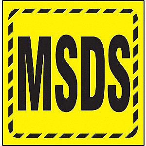3D PROJ SIGN MSDS