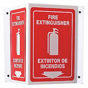 90D PROJ SIGN FIRE EXIT ENG/SP