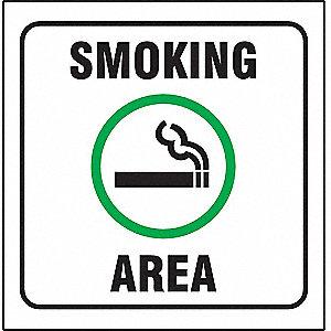 90D PROJ SIGN SMOKING AREA