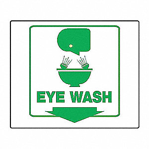 PROJ SIGN 3D 6 X 5 PNL EYE WASH