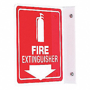 PROJ SIGN 90D 8 X 8 PNL FIRE EXT
