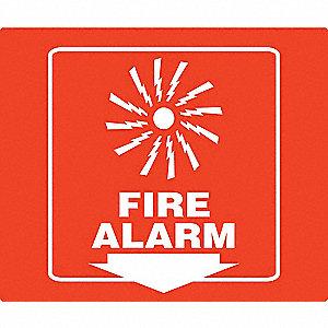 PROJ SIGN 90D 8 X 8 PNL FIRE ALARM