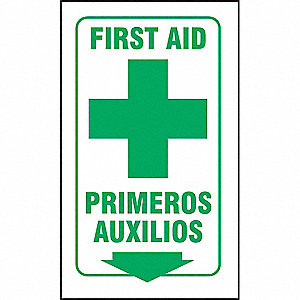 90D PROJ SIGN FIRST AID ENG/SP