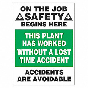POSTER 24X18 SAFETY BEGINS HERE