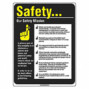 POSTER 24X18 SAFETY MISSION