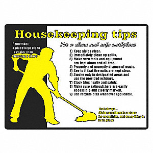 POSTER 24X18 HOUSEKEEPING TIPS