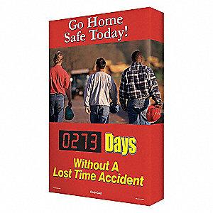 SCOREBOARD SIGN GO HOME SAFE
