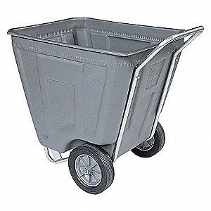 Med-Duty Cart,8.4 cu ft,300lb Load,Gry