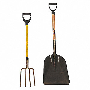 SHOVEL SCOOP 13X17X69IN W/FBG HNDL