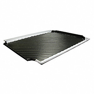 "30"" x 24"" Containment Tray, Black w/White Stripe&#x3b; For Use With 4UX43, 4DV11, 4DV10, 4UX47, 4DU99, 4D"
