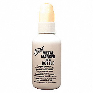 Metal Marker in a Bottle,White