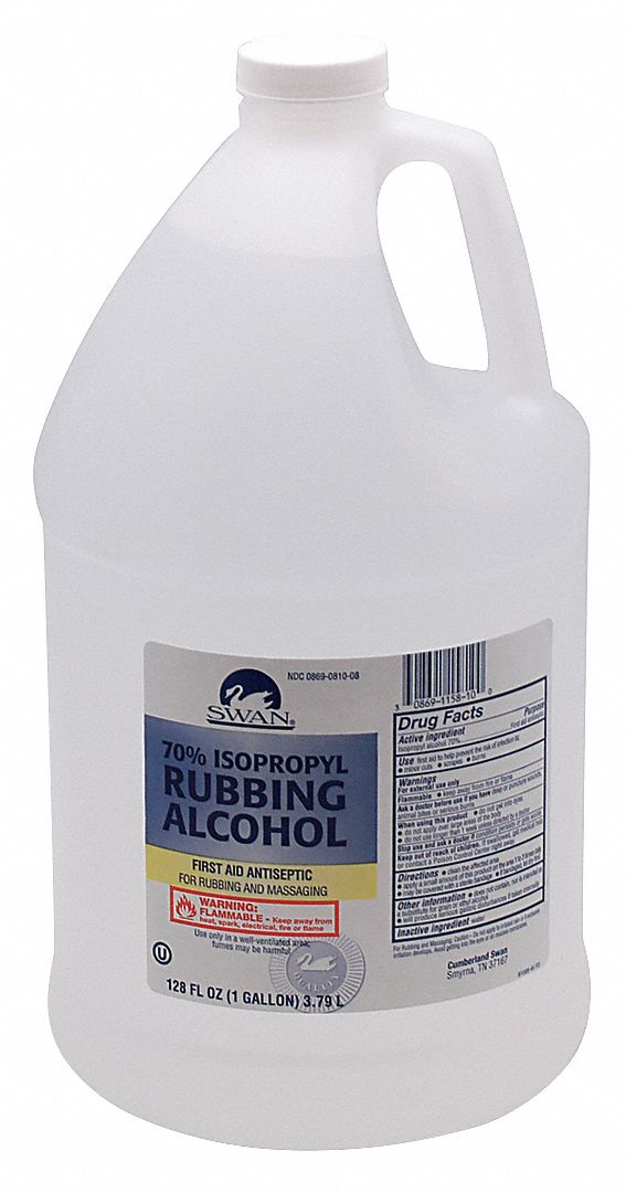 Rubbing Alcohol,  Liquid Solution,  Bottle,  128.0 oz,  1 gal