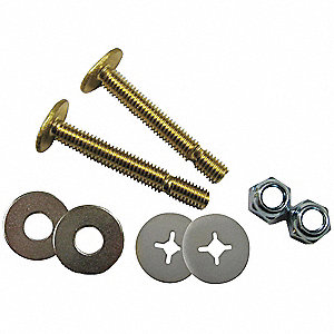Brass Break Off Toilet Bolt Repair Kit, For Use With Universal Fit