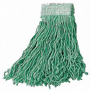 Clamp Synthetic String Wet Mop Head, Green