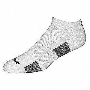 Ankle Sewn Polyester Athletic Socks, Men's, White, 4 PK