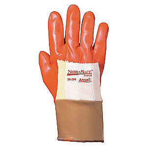 GLOVES SAFETY CUFF GOLD PALM COATED