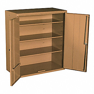 "Tan Jobsite Storage Cabinet, Width: 32"", Depth: 16"", Height: 36"", Storage Capacity: 10.6 cu. ft."