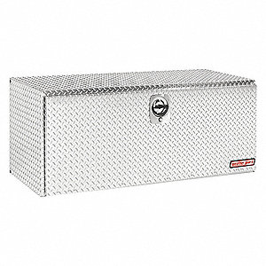 Aluminum Diamond Plate Underbody Truck Box, Silver, Double, 20.0 cu. ft.