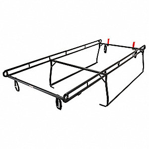 Ladder Rack,Black,Steel,150-1/2 In