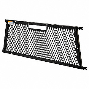 Truck Cab Screen,Black,Steel,55-1/4 In