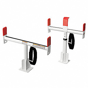 Service Body Rack,White,Alum,24-1/2 In
