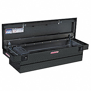 Aluminum Diamond Plate Crossover Truck Box, Black, Single Lid, 10.4 cu. ft.