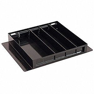 Black Tote Tray, Height (In.): 2-1/2, Width (In.): 14, Length (In.): 19-1/4