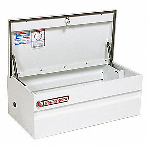 Steel Truck Box Chest, White, Single, 6.0 cu. ft.