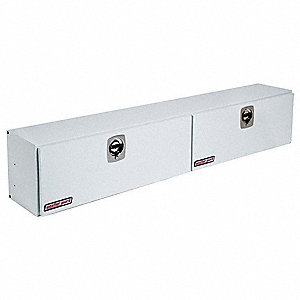 Steel Topside Truck Box, White, Double, 11.8 cu. ft.