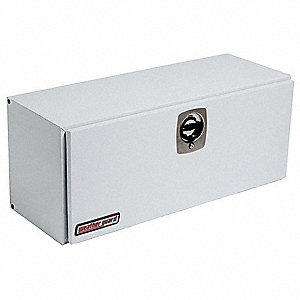 Steel Topside Truck Box, White, Single, 7.7 cu. ft.