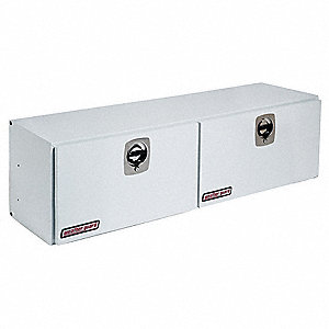 Steel Topside Truck Box, White, Double, 10.8 cu. ft.