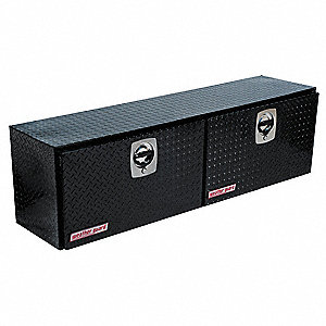 Aluminum Topside Truck Box, Black, Double, 7.9 cu. ft.