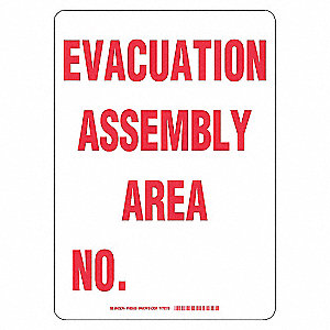 SIGN EVACUATION ASSEMBLY AREA