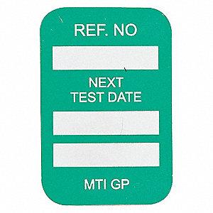 INSERTS NEXT TEST DATE 100/PKG GRN