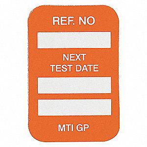 INSERTS NEXT TEST DATE 100/PKG ORG