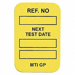 INSERTS NEXT TEST DATE 100/PKG YLW