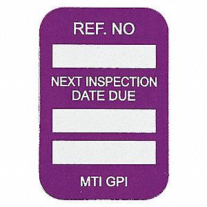 NEXT INSPECTION DUE DTE 100/PKG PUR