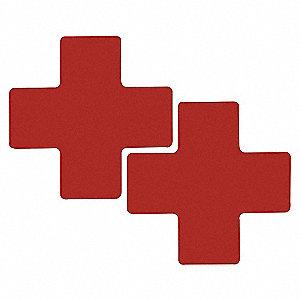 RED FLR CROSS 3IN X 8IN B514 20/PK