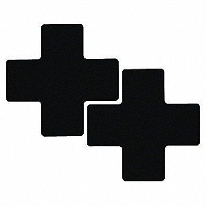 BLK FLR CROSS 3IN X 8IN B514 20/PK