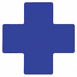 BLUE FLR CROSS 4IN X10IN B514 20/PK