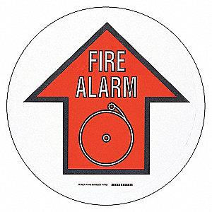 RD/BK/WT FIRE ALM W/SYM 17IN B534FS