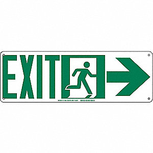 SIGN EXIT ARROW RIGHT 7X15IN