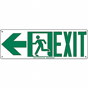 SIGN DIRECTIONAL EXIT ARW LEFT 7X21