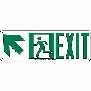 SIGN DIRECTON EXIT ARW UP LEFT 7X21