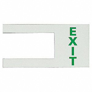 6INX10IN EXIT DOOR HANDLE MARKER -L