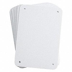 BLANKS PLASTIC SIGN PANEL WHITE
