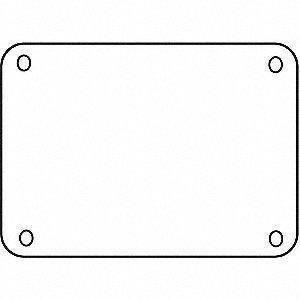 PANEL BLNK PLASITC 10X14 WHITE