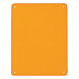 BLANKS PLASTIC SIGN PANEL ORANGE