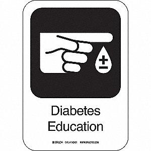 DIABETES EDUCA 10INHX7INW AL W/TXT